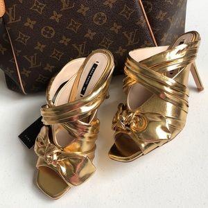 Zara Bow Mule Heel